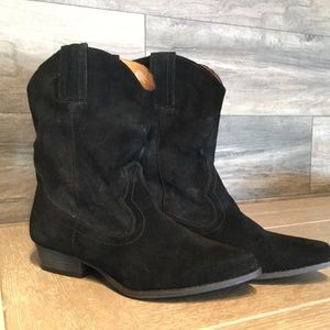 NEW Black Suede Cowboy Boot